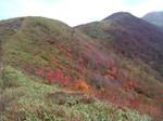 三本槍岳から大峠に至る緩やかな稜線