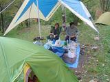 キャンプ場でのんびりタイム