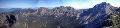12月中旬なのに雪のない八ヶ岳連峰