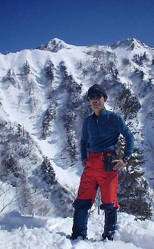 標高1000m付近からの足拍子岳
