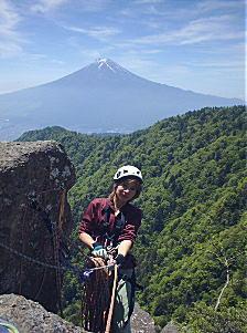 富士にはクライミングがよく似合う?