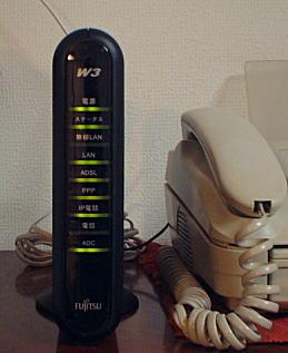 写真:我が家のIP電話対応ADSLモデム